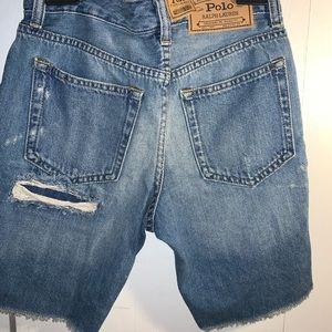 Boys Ralph Lauren Distressed Denim Shorts